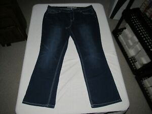 "Hydraulic Women's Nolita Boot Blue Denim Jeans Size 22W Waist 42"" Inseam 31"""