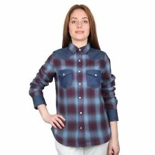 Karierte Damenblusen, - Shirts aus Baumwolle