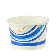 1000 Disposable ice cream cups paper cups -5 oz /150 ml / 2 scoopS