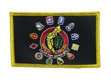 U.S. Military Vietnam War Veteran Vet Black Flag Iron On Patch