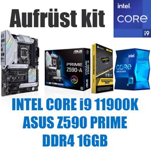 Intel Core i9 11900K ● ASUS Z590 Mainboard ● 16GB RAM ● PC Gaming Bundle Kit