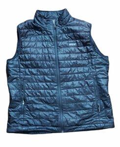 Patagonia Mens Puffer Black Vest Size XL