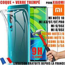 COQUE SILICONE + VITRE VERRE XIAOMI Mi 9 9T pro 8 lite se A3 REDMI Note 7/8T 9T