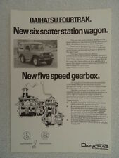 Daihatsu brochure 1983 - Fourtrak 6 Seater Station Wagon 2530cc Diesel.