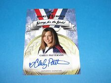 2013 Leaf CARLY PATTERSON Silver Foil Auto Variant/25 US Women's Olympic Gymnast
