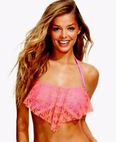 Hula Honey Crochet Flounce Bikini Top Ginger Size Large