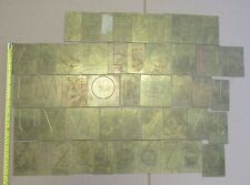 """3"""" LETTER ON BRASS ENGRAVING LETTERS & NUMBERS FOR PANTOGRAPH ENGRAVER  QE"""