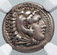ALEXANDER III the GREAT 325BC Ancient Silver Macedonian Greek Coin Zeus i90002