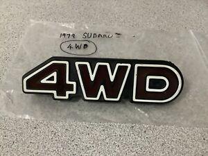 1979 SUBARU LEONE 4WD WAGON GENUINE 4WD GRILL BADGE!!!