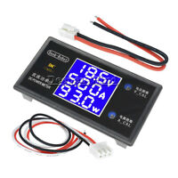 DC 50V 5A 250W Digital LCD Ammeter Voltmeter Voltage Current Volt Power Meter