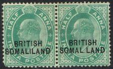 BRITISH SOMALILAND 1903 KEVII 1/2A PAIR ERROR SOMAL.LAND