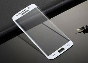 Samsung S6 Edge 3D Tempered Glass Full Edge To Edge 100% Genuine Protector White