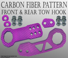 "JDM 2"" Billet Aluminum Racing Front Rear Tow Hook Kit CNC Anodized Purple G423"