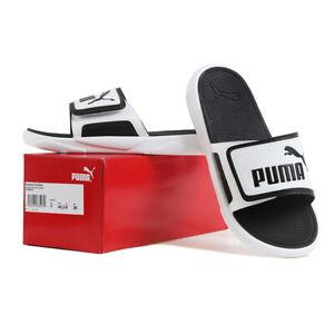 Puma Royalcat Comfort Slides Sandals Slipper White/Black 372280-02