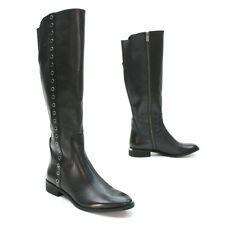 Michael Kors Ladies 9 M Dora Black Grommet Eyelet Side-zip Knee-high Boots MINT