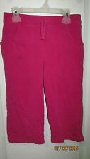 Youth Girls Large 10 12 Athletic Works Pink Casual Capri Shorts / Pants