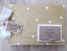 PERSONALISED VALENTINES DAY WOODEN SCRAPBOOK/PHOTO BOOK /MEMORIES