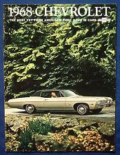 Prospekt brochure 1968 Chevrolet Chevy Impala * Bel Air * Biscayne (USA)