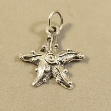 .925 Sterling Silver 3-D STARFISH CHARM NEW Beach Sea Star Pendant 925 NT101
