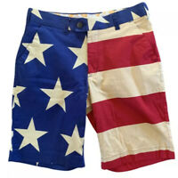 """Loudmouth Golf Men's Size 31 Shorts Old Glory Flag Patriotic 10"""" Inseam"""