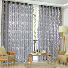 Window Door Curtain Floral Tulle Voile Drape Panel Sheer Scarf Valances Divider