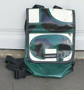 Freitag Backpack, Good Condition, Green, Medium Size