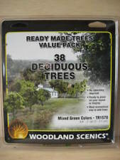 N/HO- Woodland Scenics - 38 árboles (2,0 - 5,1 cm)