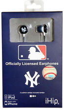 New York Yankees Hi-Fi Ear Buds [NEW] NY MLB Head Phones Earbuds Headphones CDG