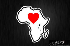 I Love Africa Continent Map Decals & Stickers
