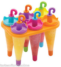 Kitchen Craft Umbrella Home Made Ice Lolly Lollypop Moulds Maker