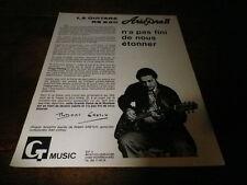 ROBERT GRETCH - Publicité de magazine / Advert !!! ARIA PRO II !!!