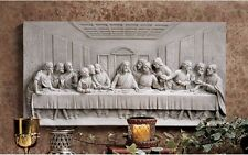 "DaVinci The Last Supper Jesus & Disciples Bas Relief Wall Frieze 23"""