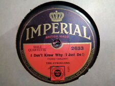 STROLLERS - I Don't Know Why / I Apologize 78 rpm disc (A+)