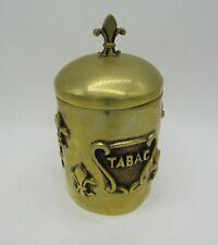 pot à tabac laiton deco fleur de lys 2 kg brass tobacco pot
