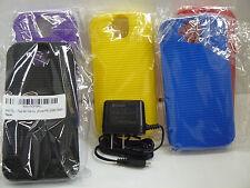 Kyocera Duraforce Pro E6800 Skin Gel Case By PROTECH & Kyocera OEM Home Charger