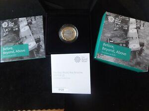2017 SILVER PROOF £2 PIEDFORT COIN BOX'S + COA FIRST WORLD WAR AVIATION 1/2000