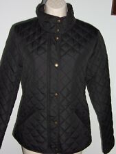 RALPH LAUREN Equestrian Horse Bit Lined Petite Quilted Barn Jacket SIZE - PS, PM