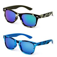 Kids Unisex Camouflage Solid Frame Color Horn Rimmed Style Sunglasses Boys Girls