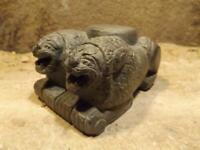 Hittite lion statue / sculpture - Palace column base - Tell Tayinat - Calneh
