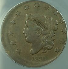 1831 Large Cent 1c Mint Error 5% Off Center ANACS VF-25