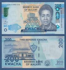 MALAWI  200 Kwacha 2016 Replacement ZA  UNC P. NEW