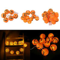 6/10/20 LED Halloween Pumpkin String Fairy Lights Lantern Party Props Home wer