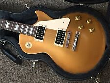 2016 GIBSON LES PAUL 50's TRIBUTE SATIN GOLD W/ GIBSON HARD CASE OPEN BOX DEMO