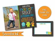 Monster Theme Birthday Invitation PRINTABLE Custom Design