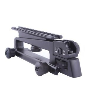 Metal Detachable Carry Handle Dual Apertures Rear Sight and Picatinny Rail Mount