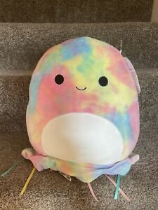 "Squishmallow 11"" Janet The Tye Dye Jellyfish Summer Squad NWT HTF"