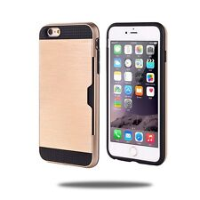 New Slim Sleek Case with ID Credit Card Holder Cover For Apple iPhone 6s 6 Plus