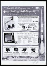 1959 View-Master Moon Rockets starter set lighted viewer 3 projector photo ad