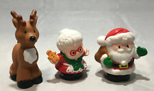 Fisher Price Little People Santa Claus Mrs Claus Reindeer