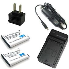 Charger + 2x Battery for Pentax Optio I-10 I10 RZ10 WG-1 GPS X70 K-BC92U D-Li92